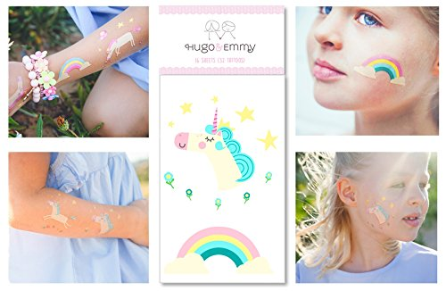Unicorn Temporary Tattoos For Girls - 32 Tattoos  - Great Gi