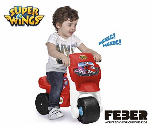 FEBER Famosa 800011031 Motofeber Superwings Correpasillos Color Rojo