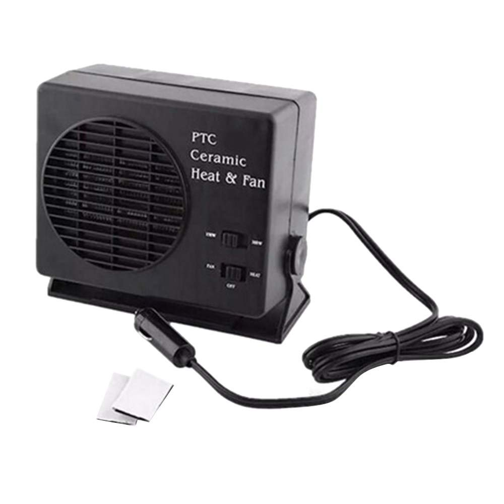 300W 12V Car Fan Heater Switch Ceramic Heating Warmer Defroster Demister Car Electrical Heating Fans Instant Heating