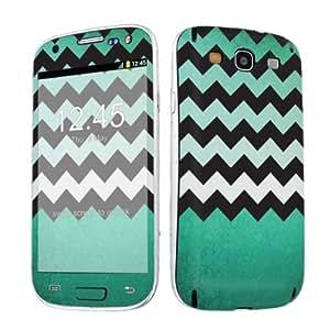 SkinGuardz Vinyl Decal Sticker Skin for Samsung Galaxy S3 / S III - Mint Green Texture Chevron