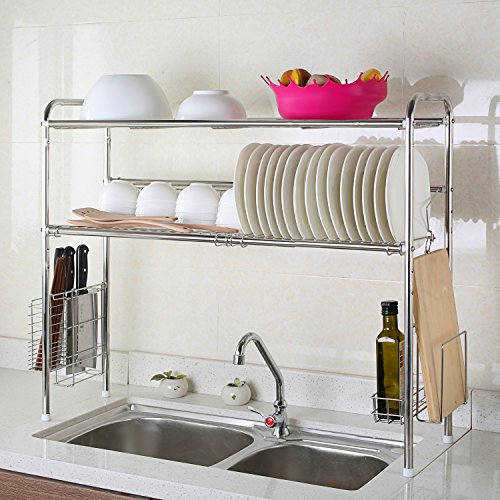 1208S 2-Tier Stainless Steel Dish Drying Holder Rack (Double Groove-Two-layer) by 1208S (Image #8)