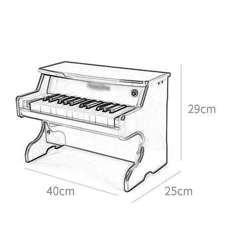 DUWEN Piano para niños, de madera, multifuncional, 25 teclas, órgano electrónico, juguete para principiantes. (Color : Red): Amazon.es: Instrumentos ...