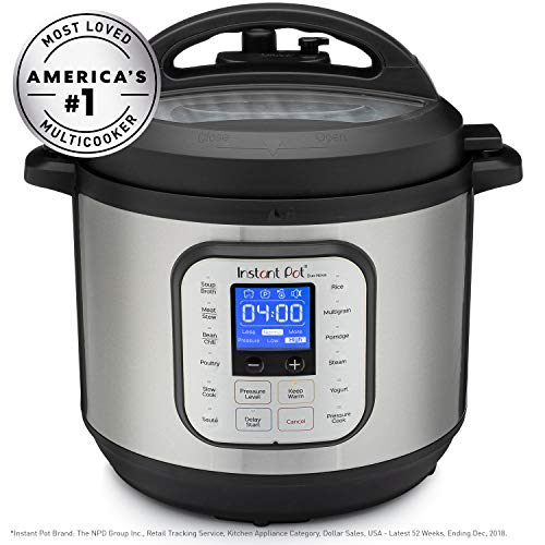 Instant Pot DUONOVA80 NOVA 8 Pressure Cooker, 8-QT, Stainless Steel/Black (Slow Pot With Cooker Ceramic)