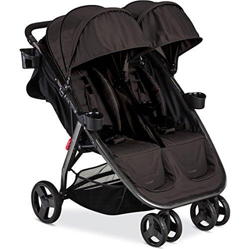 Combi Fold N Go Double Stroller, Caribou