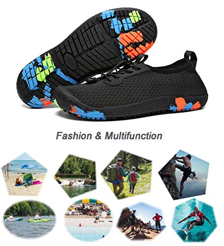 Pictures of Uminder Mens Water Shoes Breathable Lightweight Beach 2