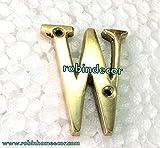 Robin Exports New Antique Alphabet 'W' Letter Design DELF Door House Letter Brass House Address Alphabet Home Decor