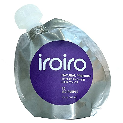 IROIRO Premium Natural Semi-Permanent Hair Color 20 Iro Purple (4oz) (Vampire Makeup Looks)
