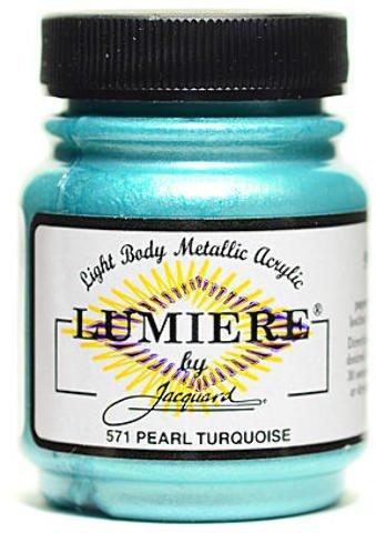 Jacquard Lumiere Artist Acrylics (Pearl Turquoise) 2 pcs sku# 1826153MA (Jacquard Paints Lumiere Pearl)
