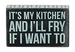 Primitives by Kathy Box Sign, 3.5-Inch by 4.5-Inch, My Kitchen