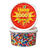 Hama Beads - Solid Mix 3000 Tub (Midi Beads)
