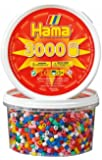 Hama 3000 Beads Refill Tub, Solid Mix