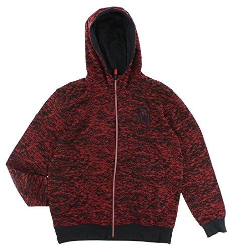adidas Mens D Rose Hardrock Full Zip Hoodie Red L
