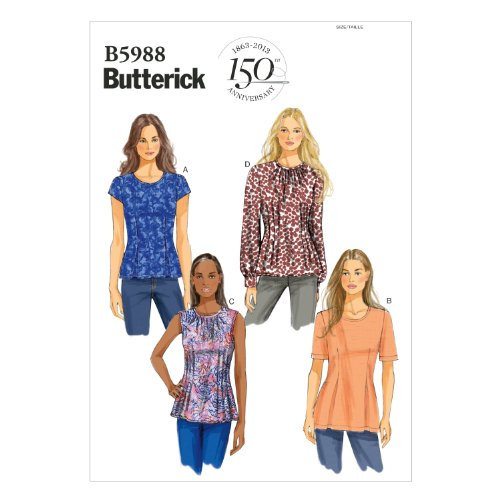 butterick-patterns-b5988-misses-misses-petite-top-sewing-template-size-b5