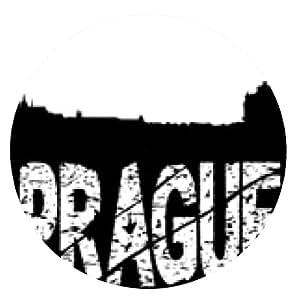 alfombrilla de ratón grunge Praga con el horizonte - ronda - 20cm