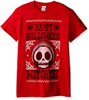 FREEZE Men's Happy Halloween Witches T-Shirt, Red, Medium