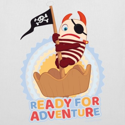 Spreadshirt Sorgenfresser Flint Ready For Adventure Stoffbeutel Weiß