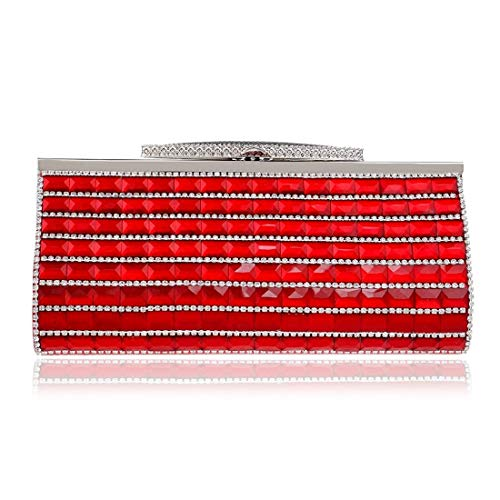 Embragues Suave Lujo Red De Bolso Para Mujeres Bolsos Sky Noche Discotecas Diamantes grow Monedero Red color 5pB8w8