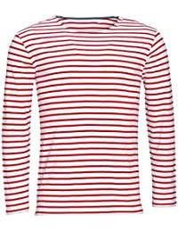 SOLS Mens Marine Long Sleeve Stripe T-Shirt