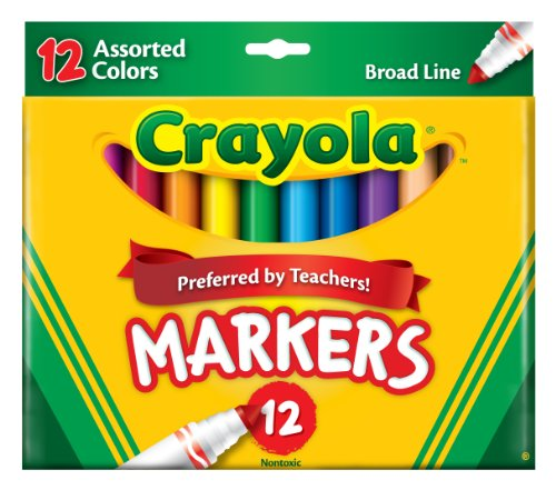 Crayola Non Washable Markers Assorted Classic