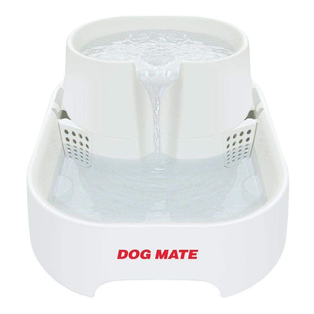 Dog Mate Drinking Fountain (One Size) (White)