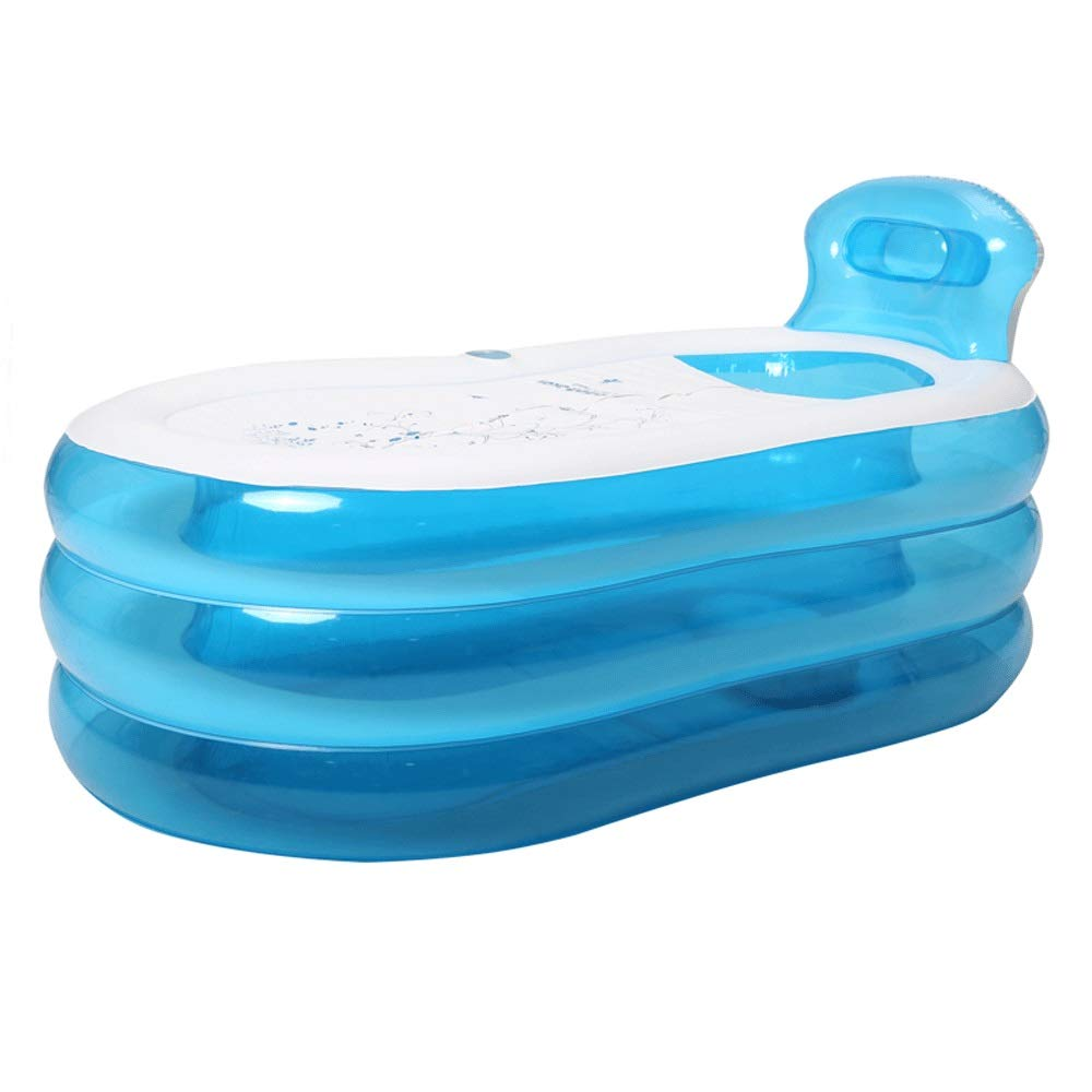 SYF バスタブ 携帯用ふたの折りたたみ膨脹可能な大人の子供の浴槽が付いているポリ塩化ビニールの風呂樽の世帯のプラスチック浴槽 A+ (色 : B, サイズ さいず : 130CM) 130CM B B07PB9WMLM