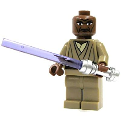 LEGO Star Wars Clone Wars LOOSE Mini Figure Mace Windu with Silver Lightsaber: Toys & Games