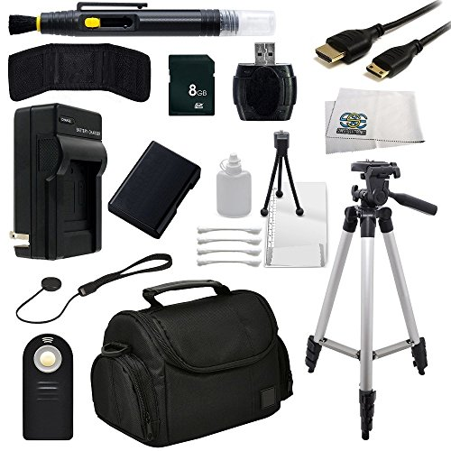 SSE Accessory Package Bundle for the Nikon D3200, D3300, D5100, D5200, D5300 & D5500 DSLR Cameras - Includes: 8GB Memory Card, High Speed Card Reader, Mini HDMI Cable, Extended Life Replacement Battery, Rapid Travel Charger, Tripod, Carrying Case + More