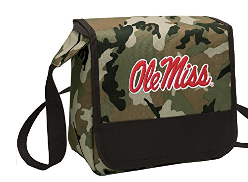 Broad Bay Camo Ole Miss Lunch Bag Shoulder University of Mississippi Lunch - Lunch Miss