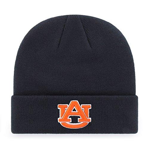 OTS NCAA Auburn Tigers Raised Cuff Knit Cap, Navy, One Size ()