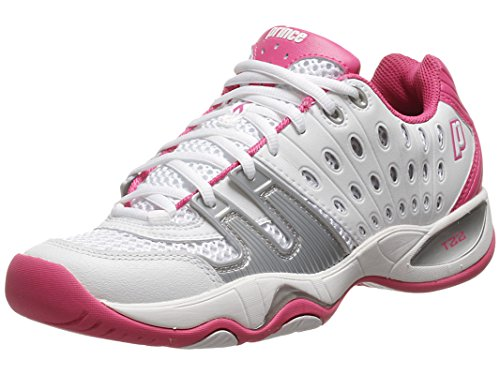 (Prince T22 Womens Tennis Shoes (11, White/Pink))