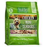 VitaLife Jerky Dog Treats - All Natural, Chicken Mini Tenders, 170g
