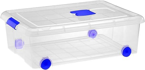 Gran caja de clasificación de plástico con ruedas (Mod. 10 ...