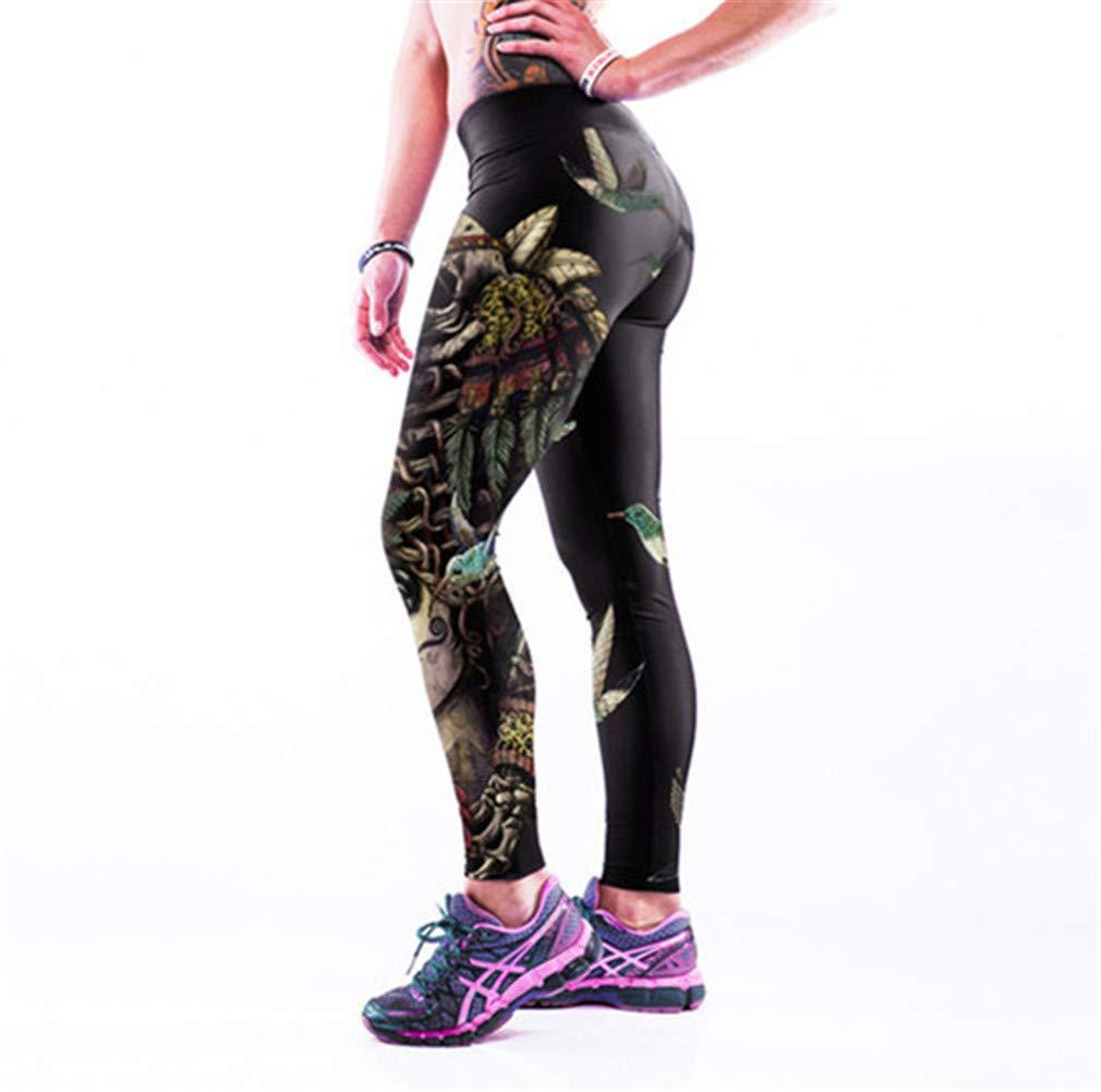 QINB Pantaloni Sportivi da Donna con Stampa Animalier Leggings