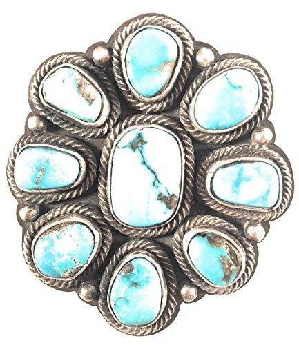 Royston Turquoise Sterling Silver Navajo Ring Size 9 1/2 By Rick Martinez from Nizhoni Traders LLC