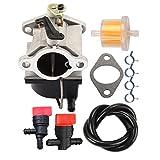 carburetor 640065a - Butom 640065 640065A Carburetor with Fuel Line Shut Off Valve for Tecumseh OHV125 OHV130 OVH135 OHV110 OHV115 OHV120 OV358EA 13HP 13.5HP 14HP 15HP Engine Tractor