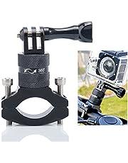 Lammcou actiecamera fietshouder, aluminium mountainbike stuurmontage, compatibel met Gopro Hero 9 8 7 6 sessie held + 4K Yi Osmo Action Camera Bike Mount-Zwart