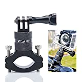Lammcou Action Camera Bike Mount, Aluminium Bike Handlebar Mount for GoPro 360 Degree Rotary Bicycle Rack Mount Holder for GoPro Garmin Xiaomi Actioncam Mountainbike Mount