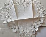 (US) Annie's #14 Aida Heart Cross Stitch Cloth Edged in Battenburg Lace 100% Cotton 12in. x 12 in