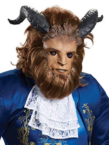 Beast Halloween Mask (Disguise Men's Beast Ultra Prestige Mask, Brown, One)