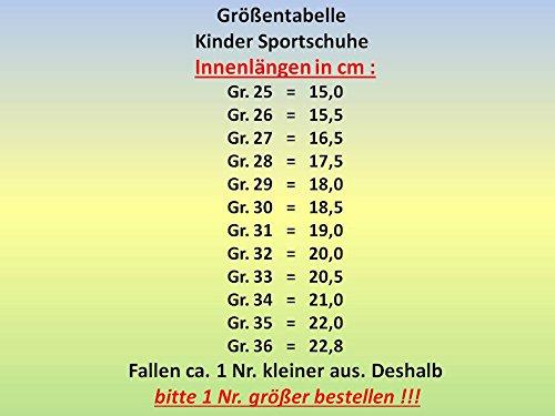 gibra - Zapatillas de Material Sintético para niño 36 Rojo - Rot/Pink