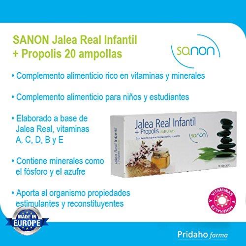 SANON Jalea Real Infantil + Própolis 20 ampollas: Amazon.es: Salud y cuidado personal