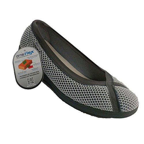 grille de chaussures femme salle d'audience fermée Muro en gris