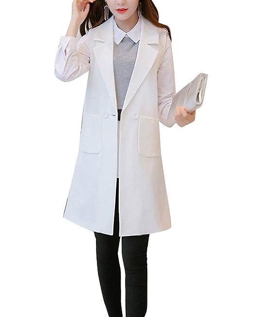 ef0726666e Chaleco Mujer Elegante Largos Blazer Primavera Otoño Sin Mangas De Solapa  Unicolor Ropa Casuales Fashion Negocios Oficina Chaqueta De Traje Camisa  Mujer ...