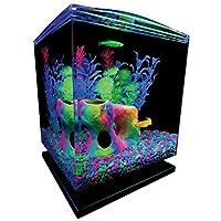 Kit de acuario GloFish de 1.5 galones con capucha, LED y filtro de susurro