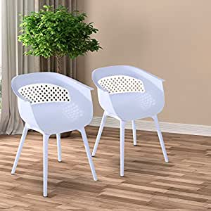 Generic MDB-US9...4448..8....Outdoor PP White Plastic White Outd Dining Chairs hairs K Set-of-2 Modern Elegant ern E Kitchen Indoor t-of-2 NV_1008004448-MJT-US55