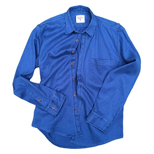 Mens-Long-Sleeve-Collared-Button-Down-Hemp-Blend-Shirt