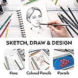 Arteza 5.5x8.5 Inch Sketch Book, Pack of 3, 300