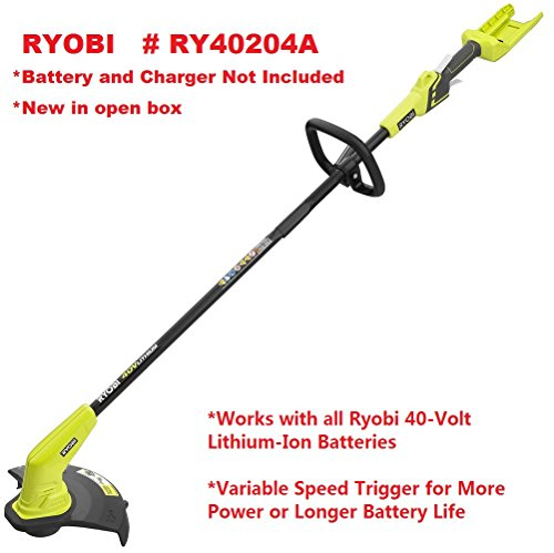 Slicktron Ryobi RY40204A 40-Volt Lithium-Ion Cordless String Trimmer - Battery and Charger Not Included by Slicktron