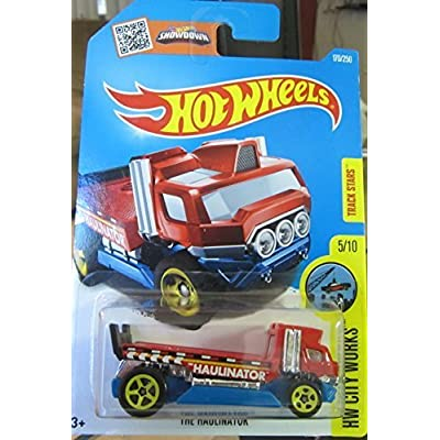 Hot Wheels 2016 HW City Works The Haulinator (Flat Bed Truck) 170/250, Red: Toys & Games