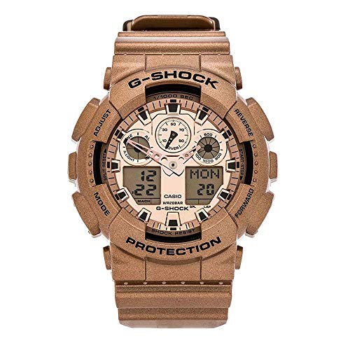 Casio Gold Dial - Casio G-Shock Gold Dial Gold Resin Quartz Men's Watch GA100GD-9A